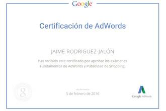 Certificacion-AdWords-Shopping-Jaime-Rodriguez-Jalon