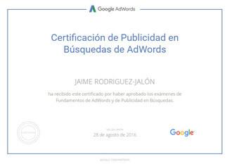 certificados-jaime-rodriguez-jalon-Google-AdWords-Fundamentals-8-2016