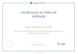 certificados-jaime-rodriguez-jalon-Google-AdWords-Video-10-2016